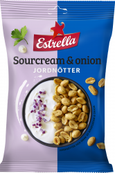 Smaksatta Jordnötter Sourcream & Onion