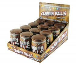 Cannon Balls Bubble Gum
