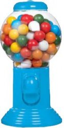 Chewing Gum ball dispenser (blå) 300g
