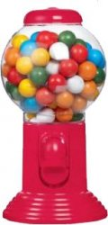 Chewing Gum ball dispenser (röd) 300g