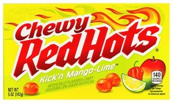 Chewy Red Hots Kick'n Mango-Lime (142g)