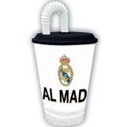 Real Madrid Mugg med sugrör 430ml