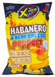Double Dutch Habanero Blue Cheese Poppers Cheese Puffs 180g