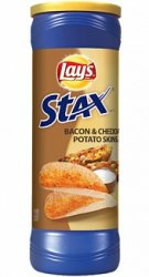 Lay's Stax Bacon & Cheddar Potato Skins (156g)