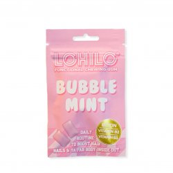 Bubble Mint - Functional Chewing Gum - Vitamins for hair nails and beauty