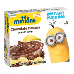 Minions Chocolate Banana Instant Pudding 102.8g