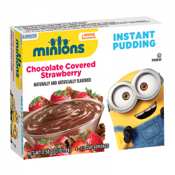 Minions Chocolate Covered Strawberry Instant Pudding  101.6g
