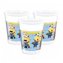 Minions Party Muggar 8st (200 ml)