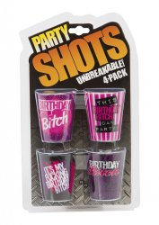 Party Shots 4-Pack Bitch