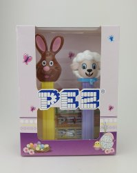Pez Happy Easter (Brown Bunny & Easter Lamb)
