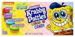 Spongebob Squarepants Gummy Krabby Patties Colors (72g)