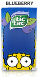 Tic Tac The Simpsons Blueberry