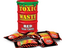 Toxic Red Sour Candy