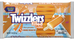 Twizzlers Flavors of America Orange Cream Pop Filled Twists (311g)
