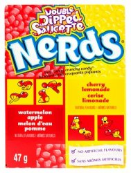 Wonka Nerds Double Dipped Lemonade/Wild Cherry & Apple/Watermelon 47g