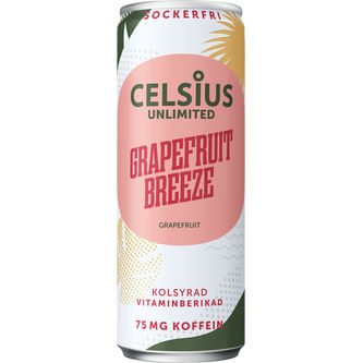 Celsius Unlimited Grapefruit Breeze 355ml