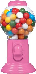 Chewing Gum ball dispenser (rosa) 300g