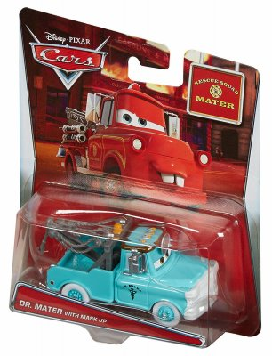 Disney Cars Dr. Mater with Mask Up Rescue Squad Mater