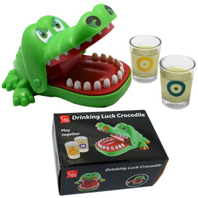 DRINKING LUCK CROCODILE