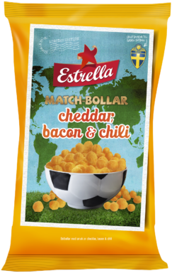 Estrella Matchbollar Cheddar, Bacon & Chili 200g Limited Edition