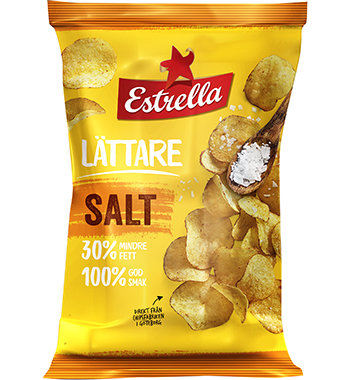 Lättare Chips Salt