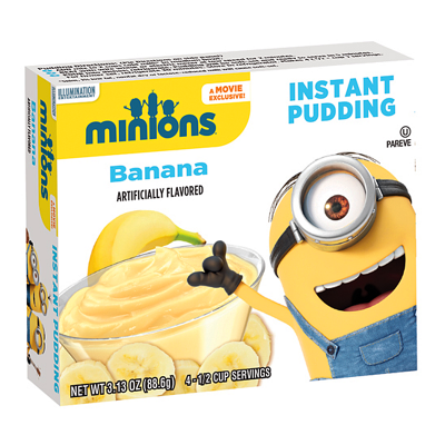 Minions Banana Instant Pudding 88.6g
