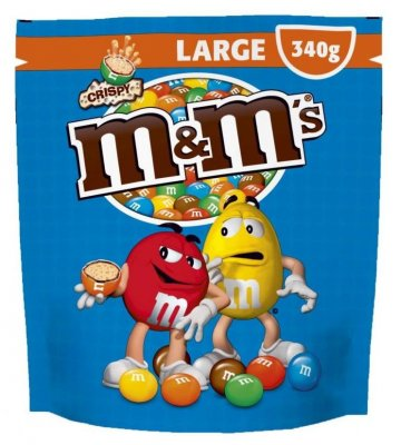 M&M's XL Crispy Pouch 340g