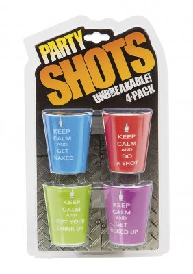Party Shots 4-Pack Keep Calm