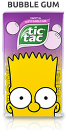 Tic Tac The Simpsons Bubble Gum