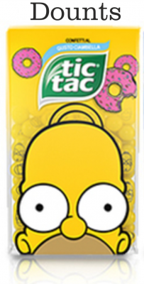 Tic Tac The Simpsons Dounts
