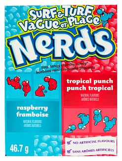 Wonka Nerds Surf & Turf Nerds Totally Tropical Punch & Road Rash 47g